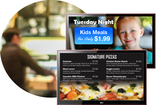Digital Menu Board Display